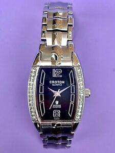 Croton Quartz Genuine Diamond Swiss Ladies Watch