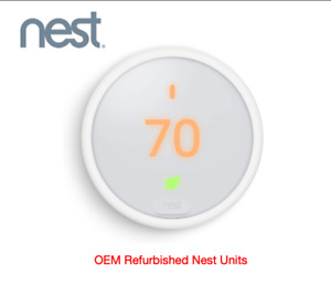 Google Nest Thermostat E and Base in White