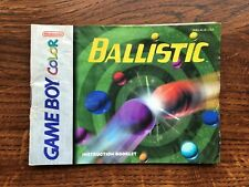 Ballistic Gameboy Color Instruction Manual Only