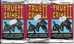 True Crime II Three Trading Card 12 Card Packs SEALED NEW UNOPENED 1992 Eclipse