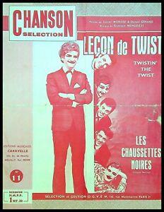 Ancienne Partition, LECON DE TWIST - Les Chaussettes Noires - Ed. O.G.V.E.M