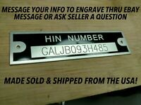 SMALL SERIAL HIN NUMBER PLATE ENGRAVING CHARGE