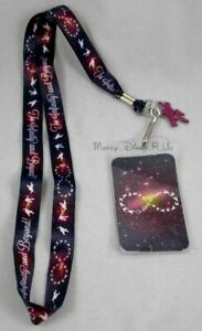 Disney Toy Story To Infinity and Beyond ID Pin Holder Lanyard Neck Strap W/Charm