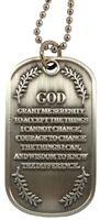 Serenity Prayer Christian Jesus USA Military ID Metal Dog Tag / Keychain