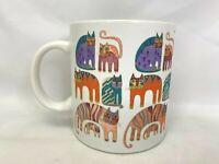 Laurel Burch Fantastic Felines Cup / Coffee Mug 14 oz Cats Vintage Japan 1988.