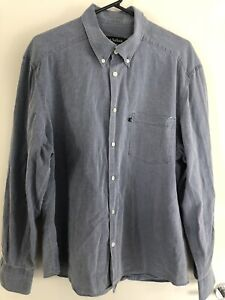 trent nathan Mens Long Sleeve Button Up Shirt Size XL Extra Large Grey