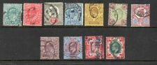 Great Britain Sc 127-38 1902 Edward VII stamp set used