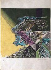 Jorge Roman Perez Gravure Signée 1967 Art abstrait Abstraction Lyrique