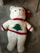 VINTAGE The JCPenney Collection Christmas Teddy Plush XMAS Bear 1993