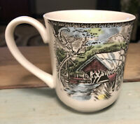 "Coffee Mug Johnson Brothers Friendly Village ""The Covered Bridge"""