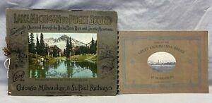 Vintage Books 1915 Great Lackawanna Bridge & 1924 Lake Michigan to Puget Sound