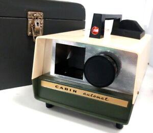 Vintage Cabin Slide Projector In Original Case
