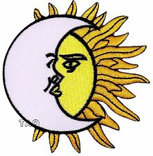 Moon Sun KISS Embroidered Iron / Sew On Patch Skirt Shirt Hat Cap Badge LOGO 206