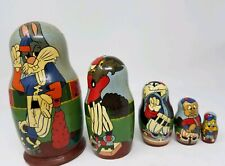 Warner Bros.Cartoon Looney Tunes Bugs Bunny 1993 Russian Nesting Dolls