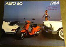 1984 HONDA AERO 50 MOTORCYCLE SALES BROCHURE SINGLE PAGE 2 SIDED (521)