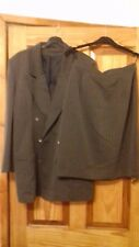 LADIES SMART FIFTH AVENUE GREY STRIPED SKIRT SUIT SIZE 12