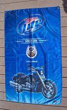 "Miller Lite Summer 2008 Harley Davidson 105 years Flag 35"" X 58""  Harley Bike"