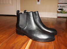 """NEW Womens COLE HAAN """"Landsman"""" Black Leather Bootie Ankle Boots Size 9"""