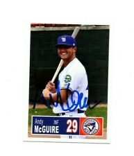 Andy McGuire 2018 Bluefield Blue Jays auto signed team rookie card Oakton VA