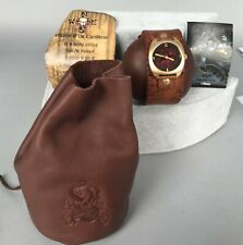Fossil Pirates of Caribbean Watch - Wide Leather Band - LE 2000 COA Disney NIB