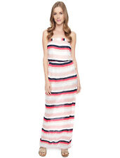 SPLENDID Horizon Stripe Maxi Dress Sz XS Calypso Coral Striped Strapless