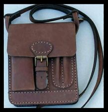 1a sattlerqualität Messenger top Bag cuero bolso caballero nuevo Antik marrón PSP. KL. *