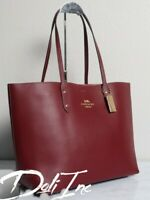 Coach F72673 Leather Town Tote Shoulder Large Bag Purse MSRP $398