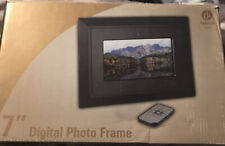 "DIGITAL LABS 7"" DIGITAL PHOTO FRAME K101 NIB BLACK & SILVER FRAMES"
