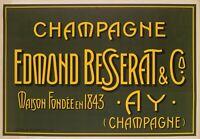 Affiche Originale - Champagne Besserat de Bellefon - Cuvée des Moines - Ay -1910