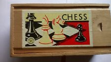 K&C WOODEN CHESS SET  WITH BOX FROM 1960/70S'