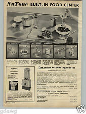 1957 PAPER AD NuTone Build In Counter Electric Food Mixer Power Unit Motor