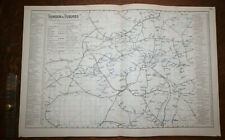 More details for 1880s antique new railway map of london suburbs bacon atlas of the british isles