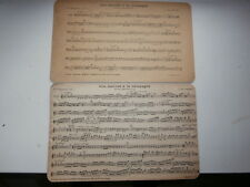 Partition 1900 UNE JOURNEE A LA CAMPAGNE BUFFET CRAMPON Trombone UT & Clarinette