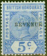 British Honduras 1899 5c Ultramarine Revenue SG66 Fine Mtd Mint