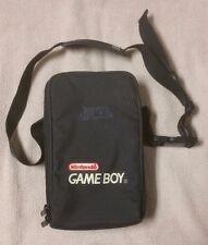 Official Original NINTENDO GAME BOY Black CARRYING CASE Bag w/ Shoulder Strap