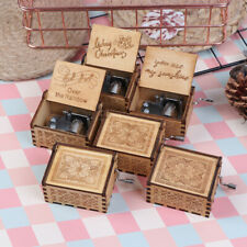 Wooden Music Box Theme Valentine's Day decor Music Box Christmas birthday Gi_ZT