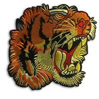 Large 7 inch Tiger head patch, Gucci style Iron on or sew on , shipped from USA