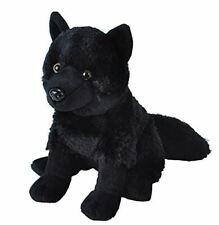 "Wild Republic Black Wolf Plush Toy 10.5"" H"