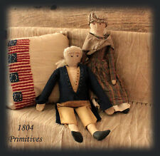 George and Martha Washington Reproduction Fabric Dolls