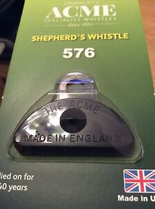 Genuine Acme Shepherds Plastic Lip Whistle in BLACK.Sheep Dog Training