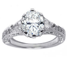 2.16 Carat Oval Diamond Engagement Ring F - GIA certified