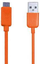 Cargador USB Micro Naranja Cable de sincronización para Microsoft Lumia 650 640XL 640 550 530