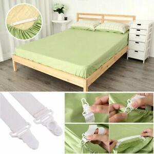 4pcs Bed Sheet Corner Tight Holder Elastic Grippers Suspenders Holder Strap Tidy