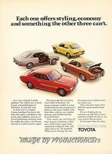 1972 Toyota Celica Corolla Corona Original Advertisement Print Art Car Ad J678