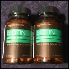 Amazon Elements 5,000 mg Biotin 130 Capsules 2 Pack