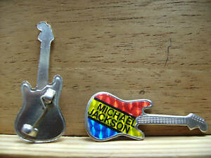 rare vintage Michael Jackson pin  Guitar Shaped condition new