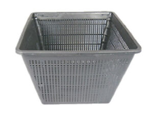 "11"" Square Koi Pond Plant Basket x 3pcs Value Pack For Containing Pond Plants"