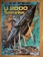 ATRAGON U-2000 scarce German 1-sh poster  TOHO Ishiro Honda