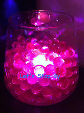 100g Pink Water Bead + 12 LED submersible Wedding Home Decoration Vase light