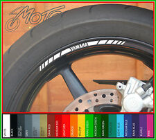 8 x YAMAHA wheel rim decals - Choice of colour - yzf R6 R1 R125 MT09 MT10 MT07